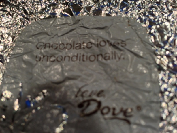 Chocolate loves unconditionally.